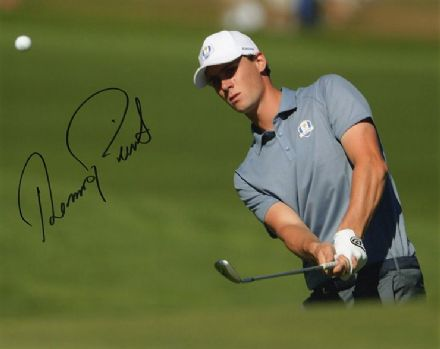 Thomas Pieters, Ryder Cup 2016 Hazeltine, signed 10x8 inch photo.